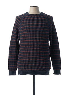 Pull col rond bleu DEELUXE pour homme