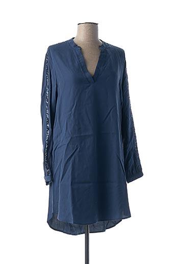 Robe courte bleu COTTON BROTHERS pour femme
