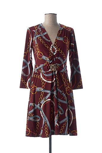 Robe mi-longue rouge MORGAN pour femme