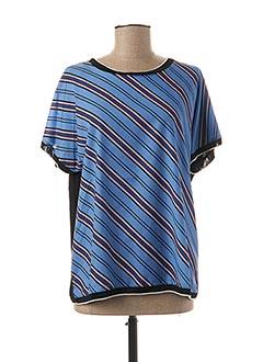 Blouse manches courtes bleu B.YOUNG pour femme