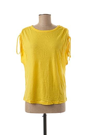 T-shirt manches courtes jaune EKYOG pour femme