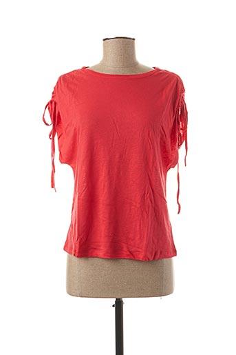 T-shirt manches courtes rouge EKYOG pour femme