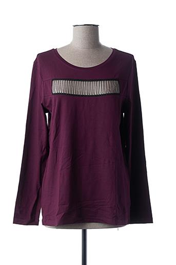T-shirt manches longues violet LAUREN VIDAL pour femme