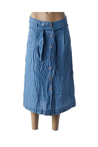 Jupe mi-longue bleu EKYOG pour femme
