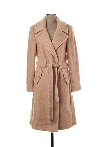 Manteau long beige FRACOMINA pour femme