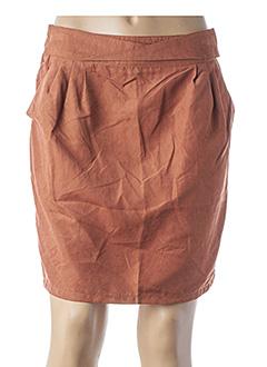 Jupe courte marron GARANCE pour femme