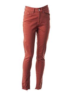 Jeans coupe slim orange ONLY pour femme