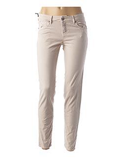 Pantalon casual beige FIVE pour femme