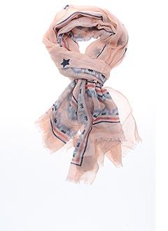 Foulard rose FIVE pour femme