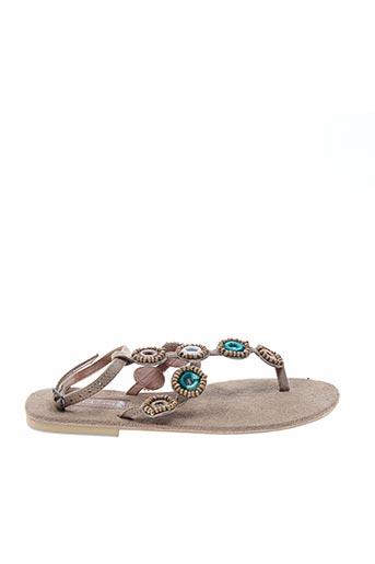 Sandales/Nu pieds bleu HOT LAVA pour femme