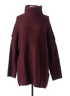 Pull tunique rouge ONLY pour femme
