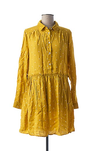 Robe courte jaune FRNCH pour femme