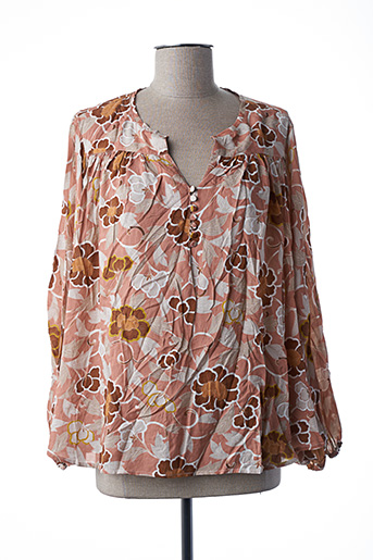 Blouse manches courtes rose MY SUNDAY MORNING pour femme