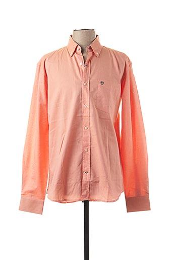 Chemise manches longues orange FORECAST pour homme