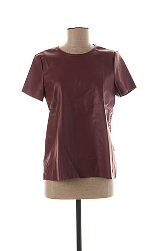 T-shirt manches courtes rouge VERO MODA pour femme