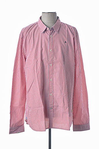 Chemise manches longues rouge GAASTRA pour homme