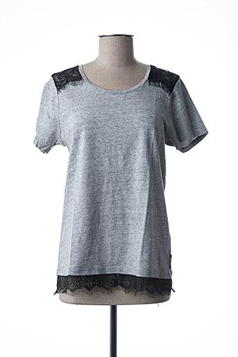 T-shirt manches courtes gris MAISON SCOTCH pour femme