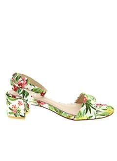 Sandales/Nu pieds vert ELUE PAR NOUS pour femme