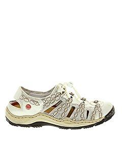 Sandales/Nu pieds gris RIEKER pour homme