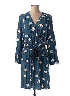 Robe mi-longue bleu DES PETITS HAUTS pour femme