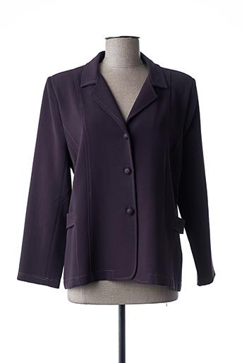 Veste casual violet ELSSA pour femme