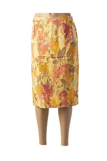 Jupe mi-longue jaune GERARD PASQUIER pour femme