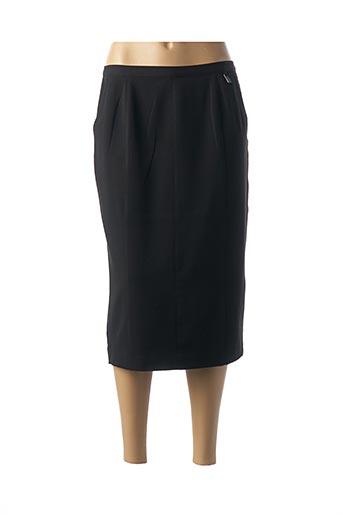 Jupe mi-longue noir COSTURA 40 pour femme