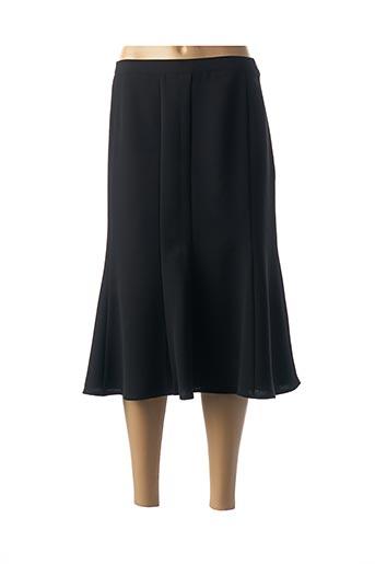 Jupe mi-longue noir FRANCOIE F pour femme