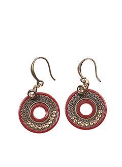 Boucles d'oreilles rouge FRANCK HERVAL pour femme