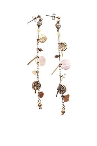 Boucles d'oreilles jaune FRANCK HERVAL pour femme