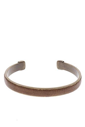 Bracelet Manchette marron ORI TAO pour femme