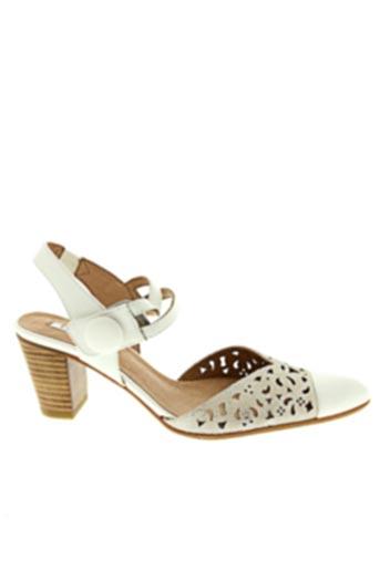 Sandales/Nu pieds blanc FUGITIVE BY FRANCESCO ROSSI pour femme
