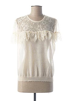 Pull col rond beige GAUDI pour femme