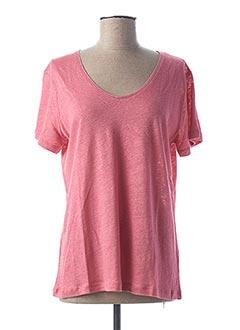 T-shirt manches courtes rose THALASSA pour femme