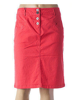Jupe mi-longue rouge THALASSA pour femme