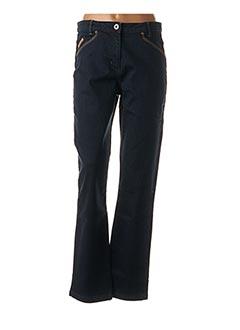 Jeans coupe droite bleu THALASSA pour femme
