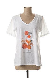 T-shirt manches courtes blanc THALASSA pour femme