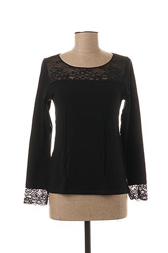 T-shirt manches longues noir AVET pour femme