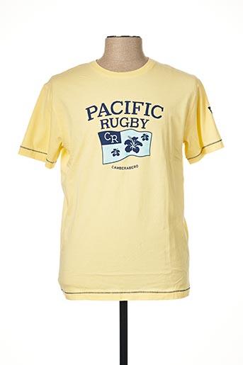 T-shirt manches courtes jaune CAMBERABERO pour homme