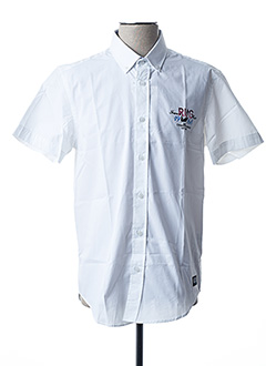 Chemise manches courtes blanc CAMBERABERO pour homme