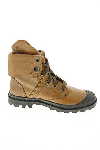 Bottines/Boots beige PALLADIUM pour garçon