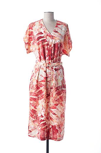 Robe mi-longue orange ISA COUTURE pour femme