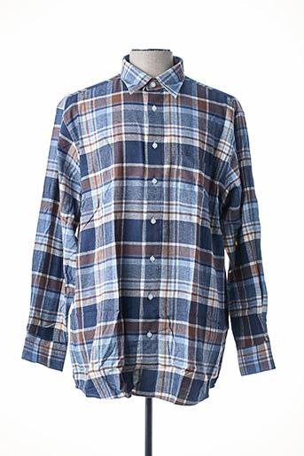 Chemise manches longues bleu HENDERSON pour homme