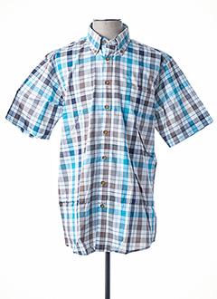Chemise manches courtes bleu GCM ORIGINALS pour homme