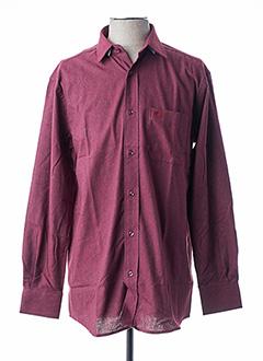 Chemise manches longues rouge ARMORIAL pour homme