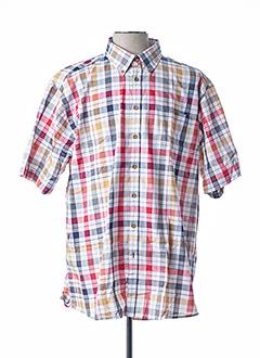 Chemise manches courtes rouge GCM ORIGINALS pour homme