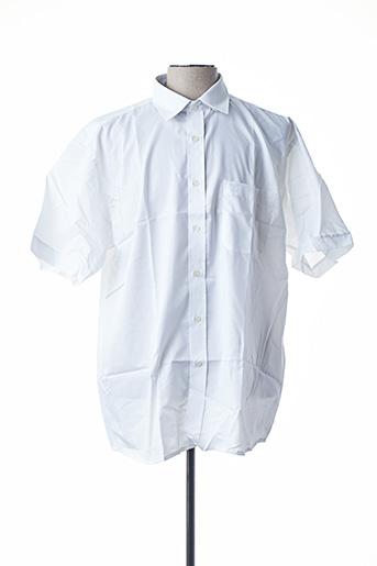 Chemise manches courtes blanc ARMORIAL pour homme