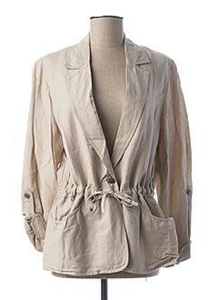 Veste chic / Blazer beige JENSEN pour femme