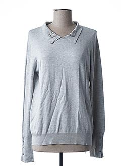 Pull col chemisier gris ESQUALO pour femme