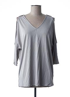 T-shirt manches longues gris ESQUALO pour femme